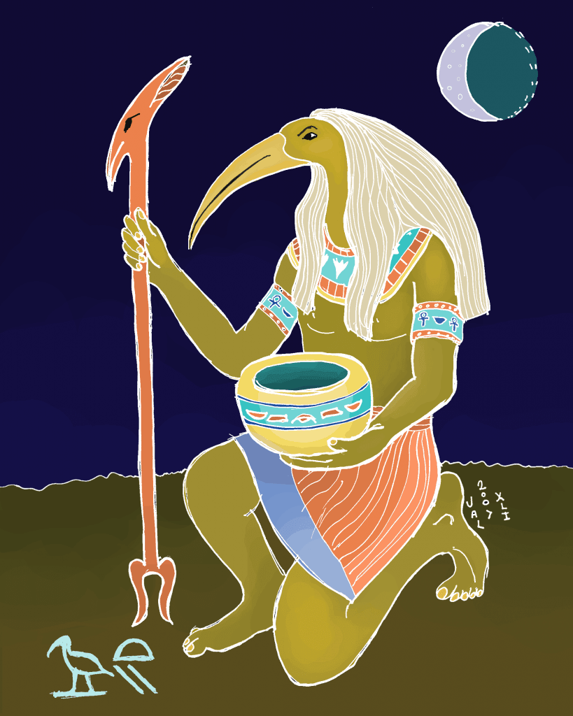 Thoth is the seventh sign in the Egyptian zodiac.