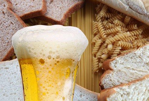beer is laden with gluten