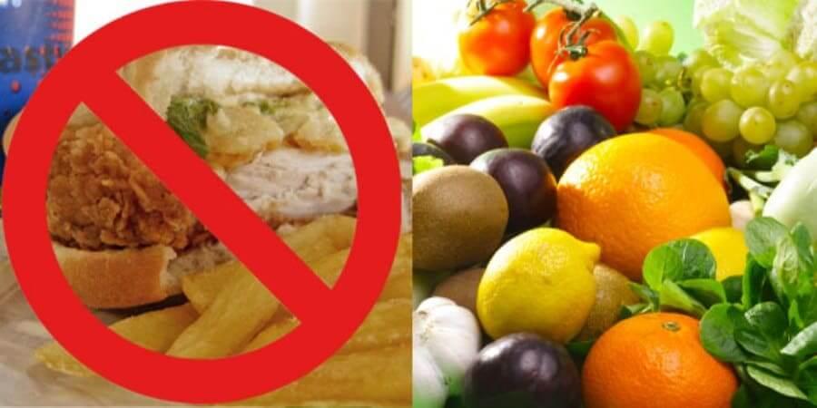 Establish healthy eating of fresh fruit and vegetables