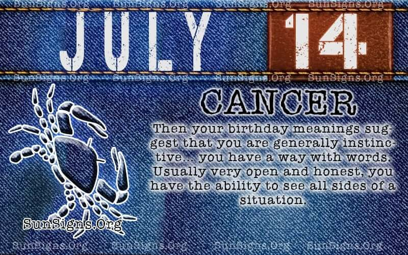 july 14 cancer birthday calendar