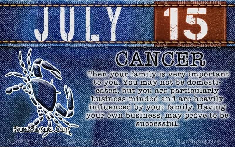 july 15 cancer birthday calendar
