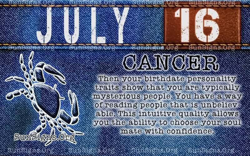 july 16 cancer birthday calendar