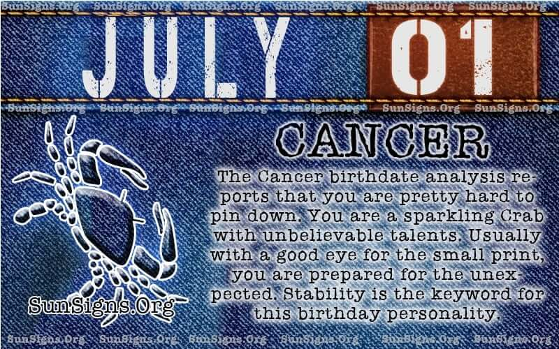 july 1 cancer birthday calendar