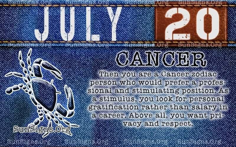 july 20 cancer birthday calendar