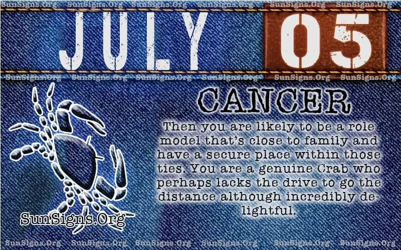 july 5 cancer birthday calendar