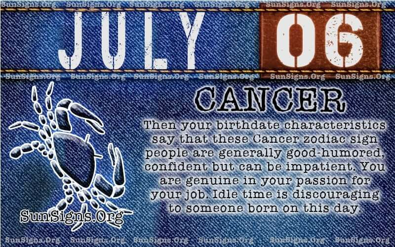 july 6 cancer birthday calendar
