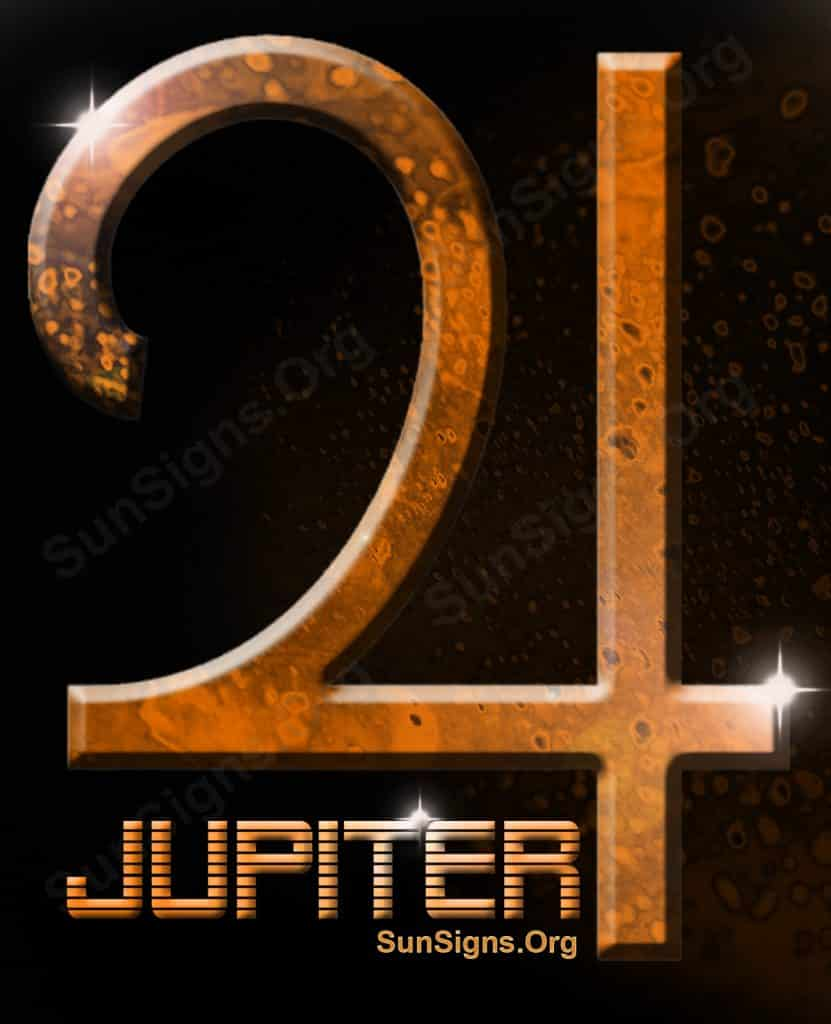 Jupiter is connected with luck and good fortune