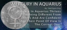 Mercury In Aquarius Thrives On Being Different From Others And Are Confident That Their Point Of View Is The Correct One.