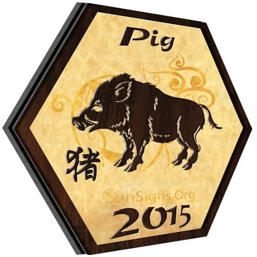 Pig Horoscope 2015: The boar will have an enjoyable and social Year of the Green Wood Sheep. Your positive personality will help you to achieve all your objectives in the coming year.