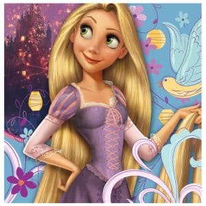 Rapunzel is spunky and positive