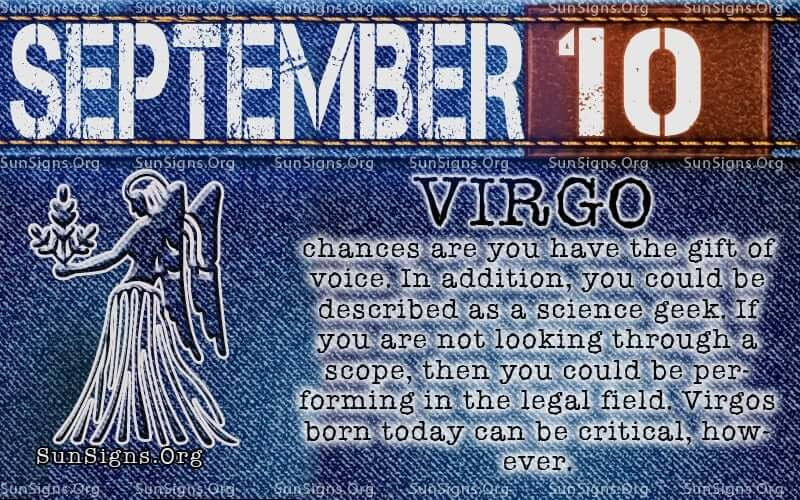 september 10 virgo birthday calendar