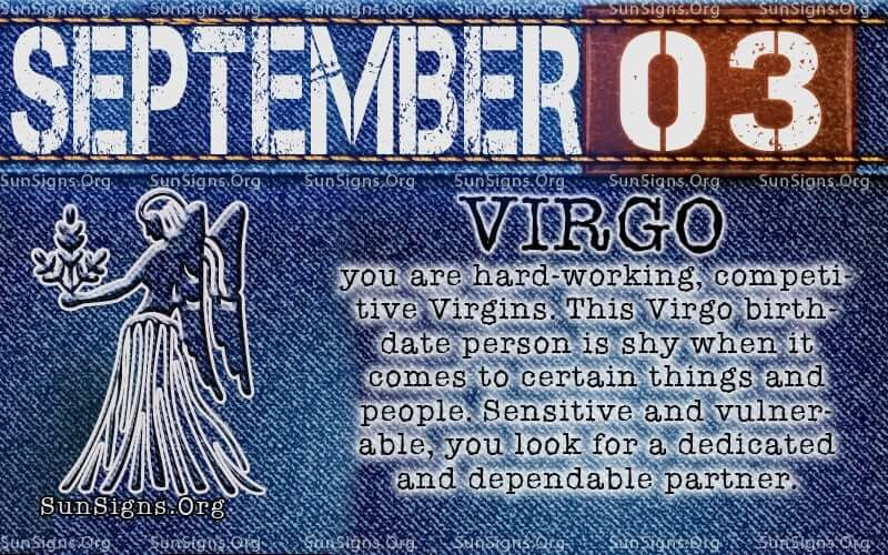 September 3 is what zodiac sign