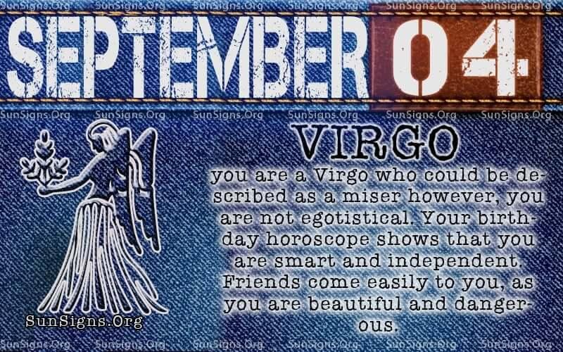 September 4 virgo