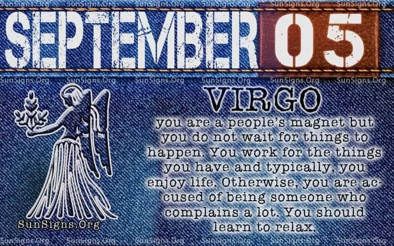 September 5 virgo