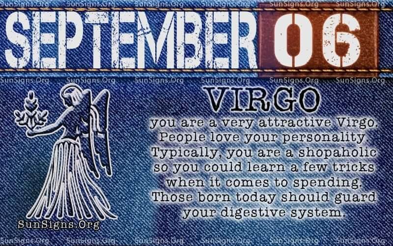 september 6 virgo birthday calendar