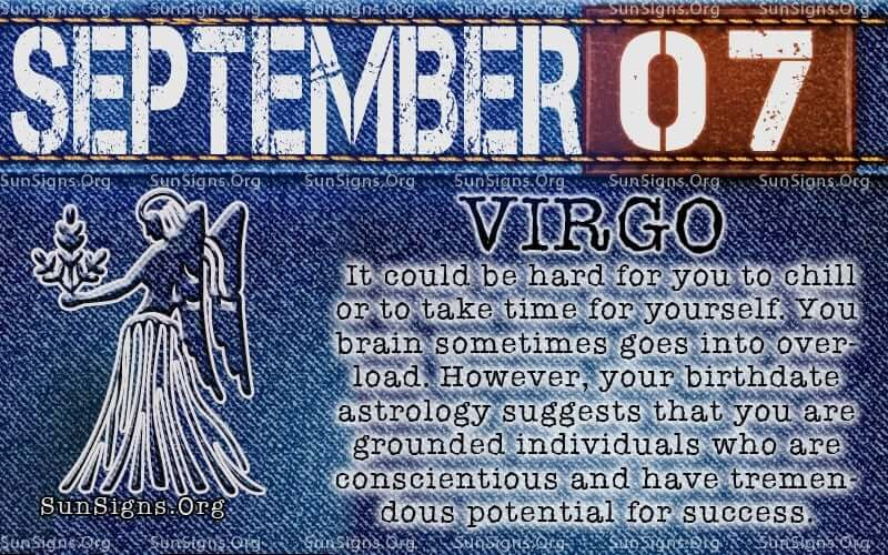 september 7 virgo birthday calendar