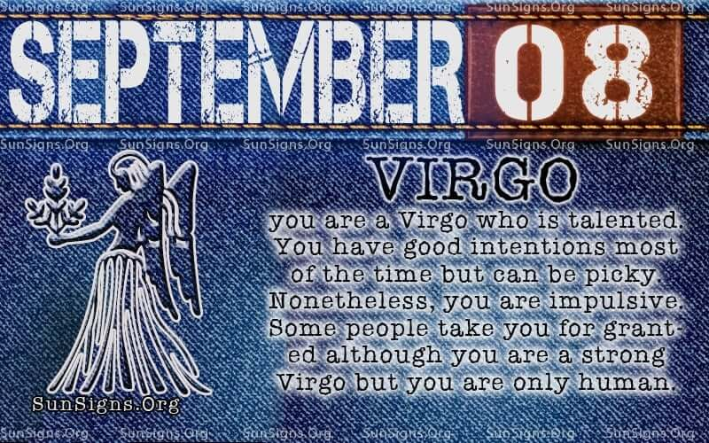 september 8 virgo birthday calendar