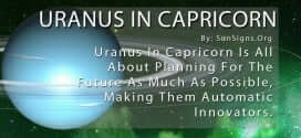Uranus In Capricorn. Uranus In Capricorn Is All About Planning For The Future As Much As Possible, Making Them Automatic Innovators.