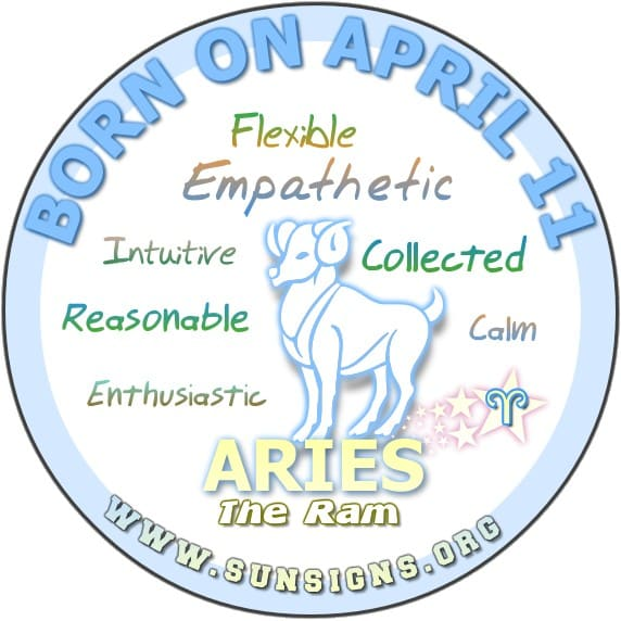 IF YOU ARE BORN ON April 11, you are open minded, intuitive, and empathetic.