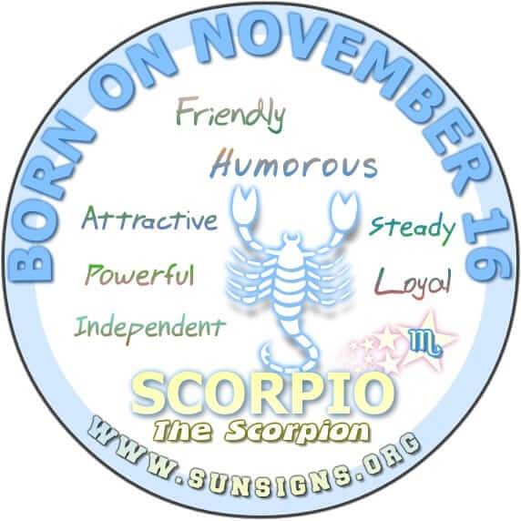 November 16 Birthday Horoscope Personality