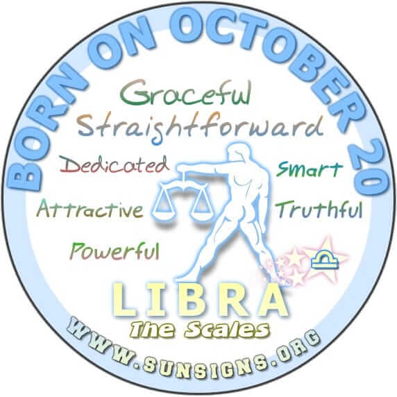 IF YOU ARE BORN ON OCTOBER 20, your birthday falls in the cusp of Libra and Scorpio.