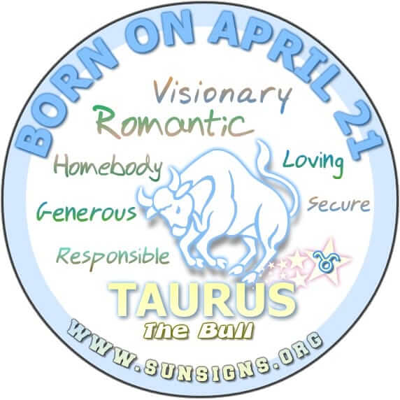The 21 April birthdate meanings show that you have always been a responsible person, Taurus.