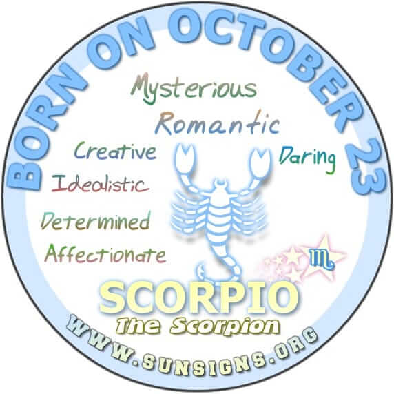 IF YOUR BIRTHDATE IS OCTOBER 23, then you are a romantic at heart.