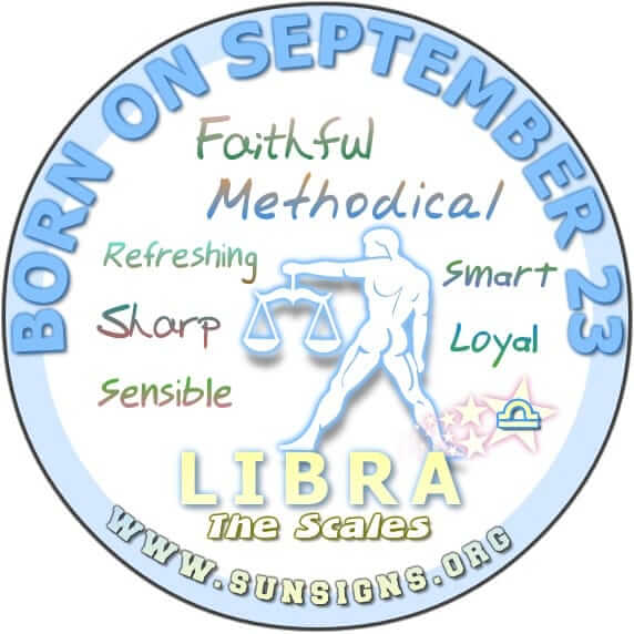IF YOUR BIRTHDATE IS SEPTEMBER 23, you are likely a smart individual that is capable of making quick and sensible decisions.