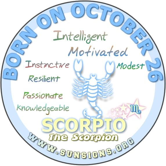 Love and Compatibility for October 26 Zodiac
