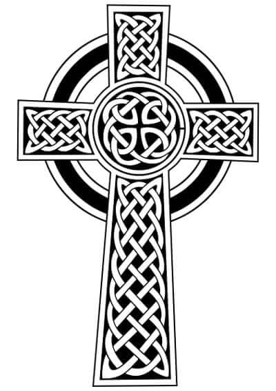 The basic form of a Celtic cross is a simple cross with a circle around the intersection of the stem and arms