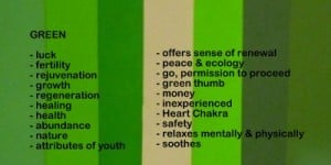 Green is associated with money & jealousy.