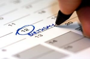 To help you remember special occasions, make a list or keep a calendar of all important dates