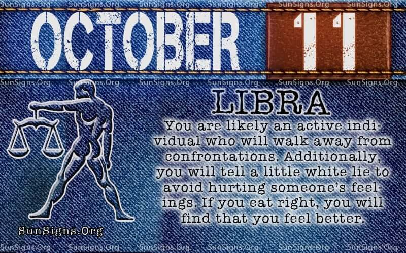 october 11 libra birthday calendar