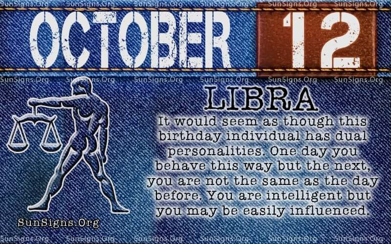 october 12 libra birthday calendar