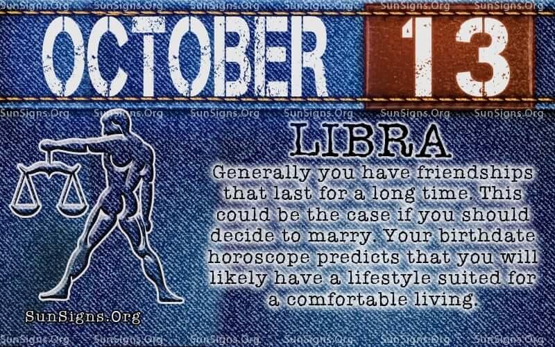 october 13 libra birthday calendar