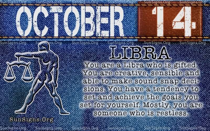 october 14 libra birthday calendar