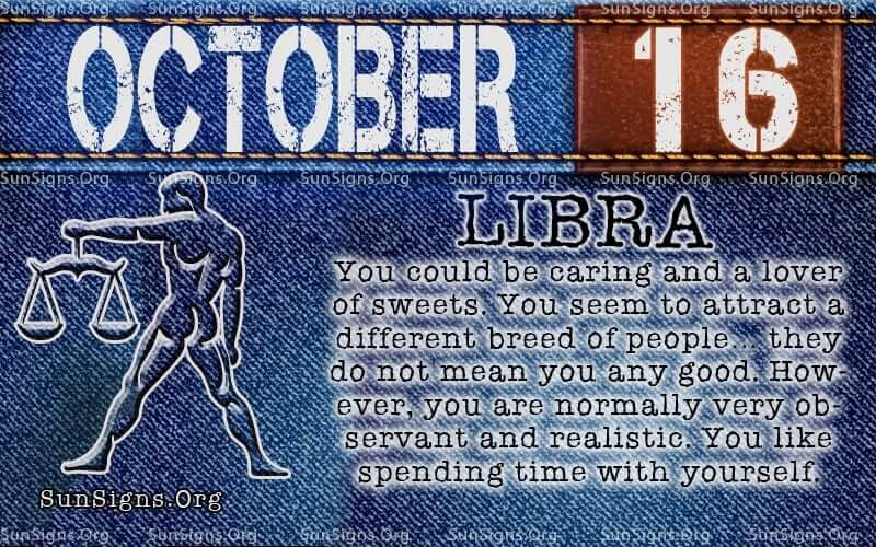 october 16 libra birthday calendar