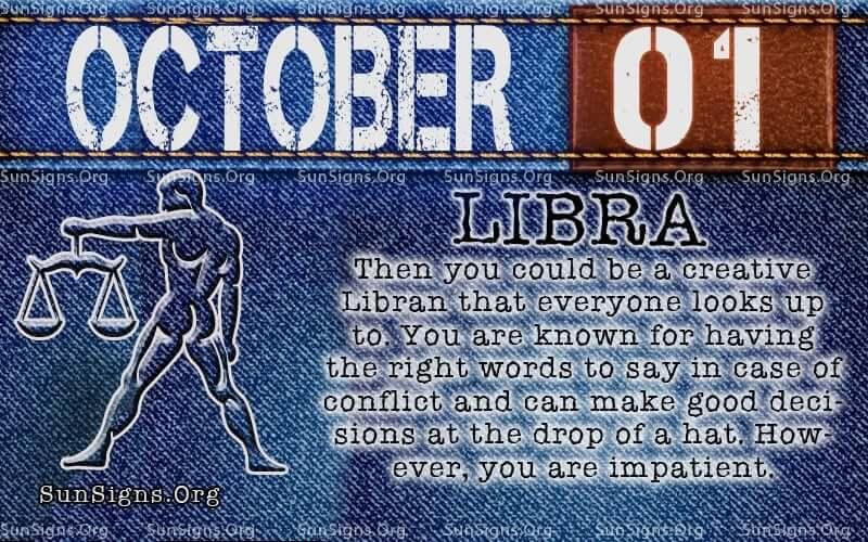 october 1 libra birthday calendar