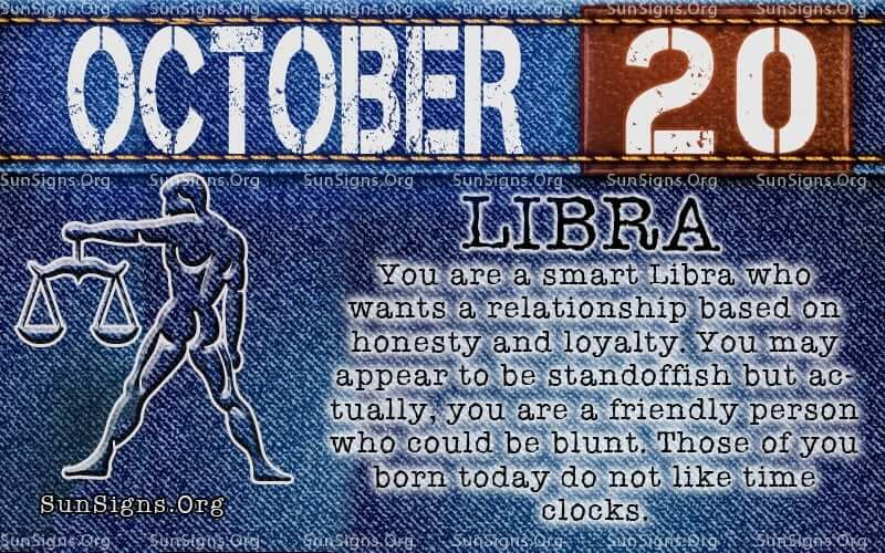 Personality Profile for People Born on October 20