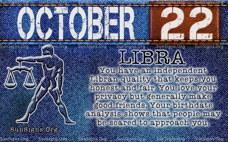 october 22 libra birthday calendar
