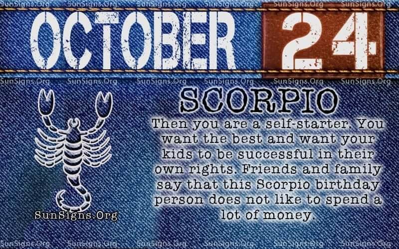 october 24 Scorpio birthday calendar