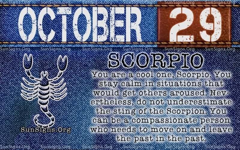 october 29 scorpio birthday calendar