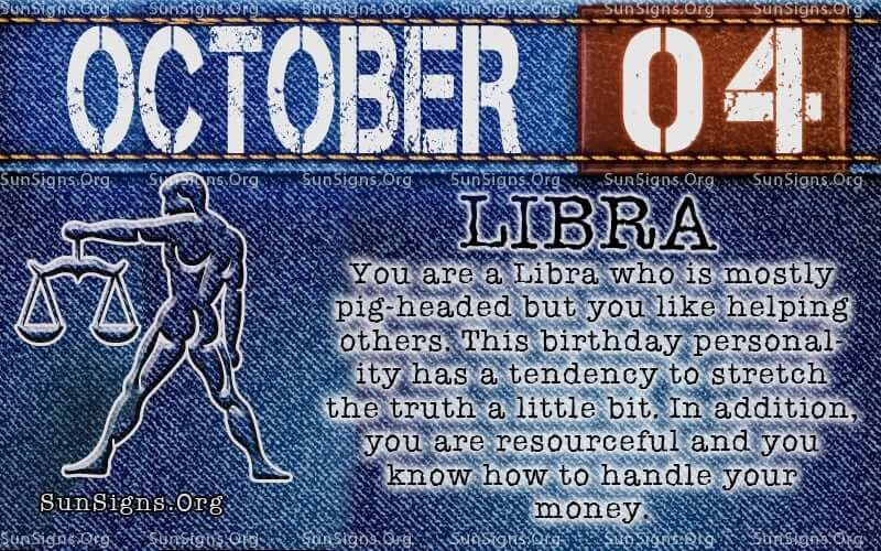 october 4 libra birthday calendar