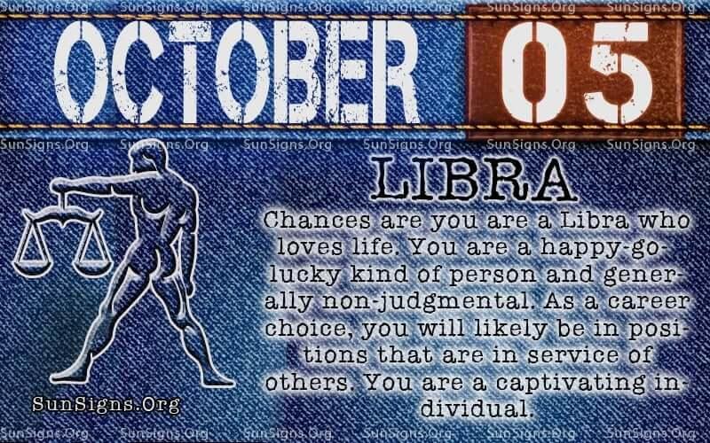 october 5 libra birthday calendar