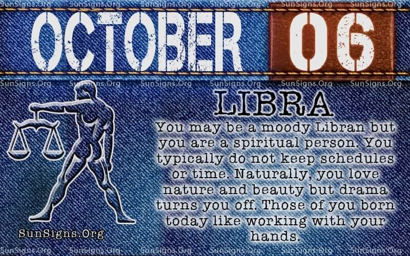 october 6 libra birthday calendar
