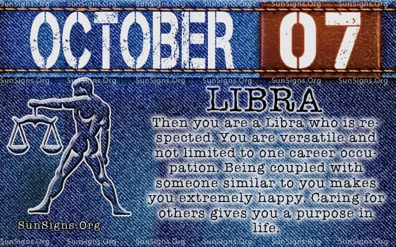october 7 libra birthday calendar