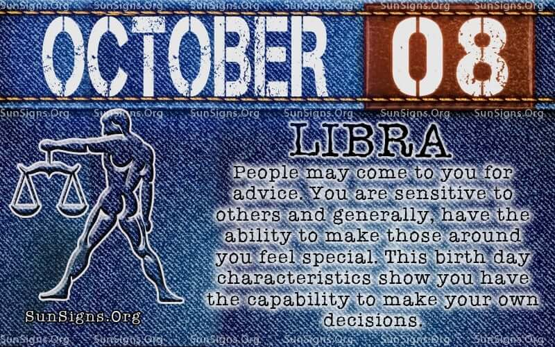october 8 libra birthday calendar