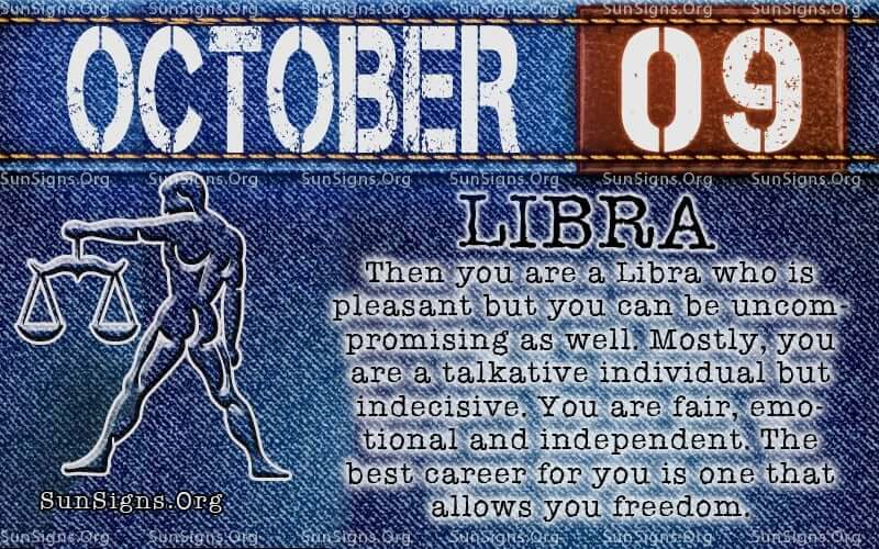 october 9 libra birthday calendar