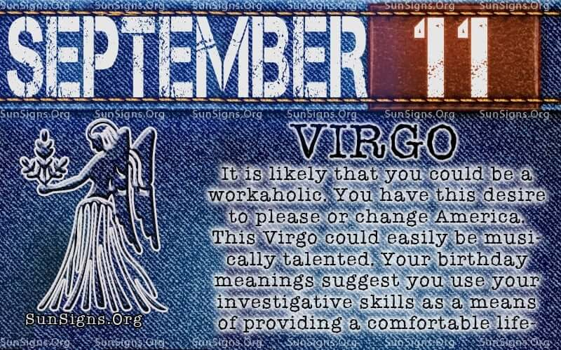 september 11 virgo birthday calendar