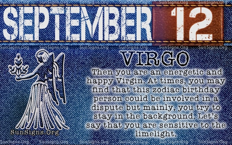 september 12 virgo birthday calendar